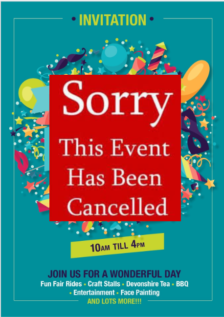 St Paul's Fete Cancelled